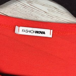 Fashion Nova Tops - FASHIONNOVA | Orange Tie Front Crop Top